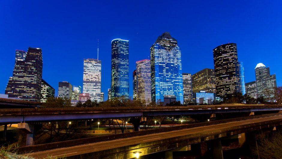 Houston at night.
