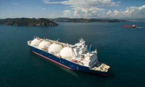 Ready for action: an LNG tanker
