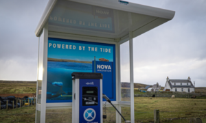 Nova's EV charging point in Shetland.