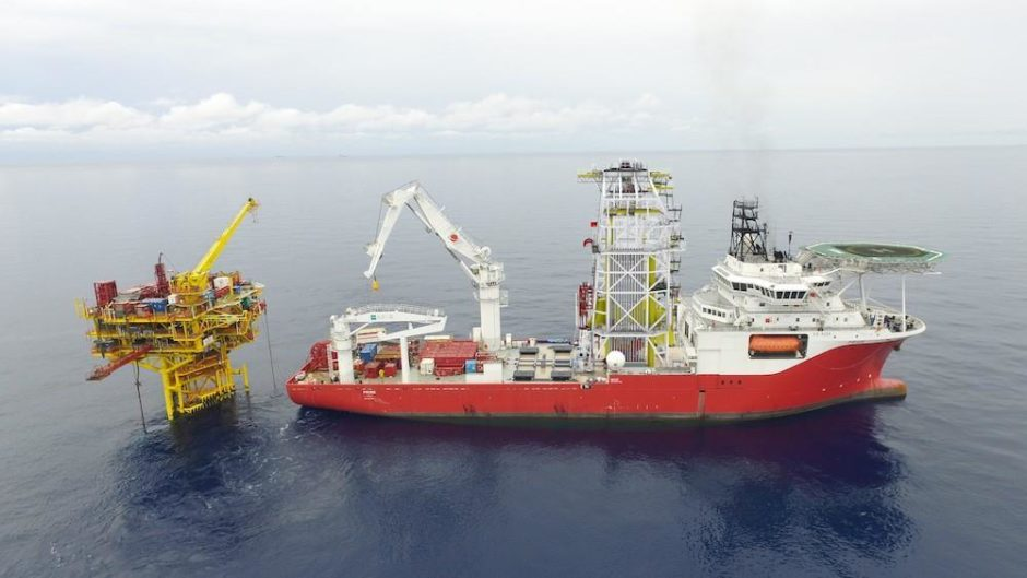 The DP3 M/V Pride offshore construction vessel.