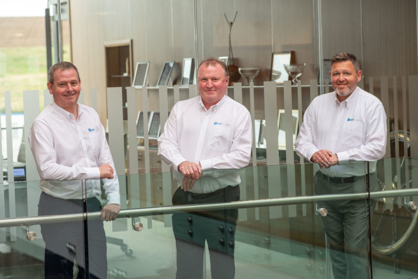 ACE Winches' executive leadership team from left to right: Paul Mitchell, George Fisher and Stuart White.