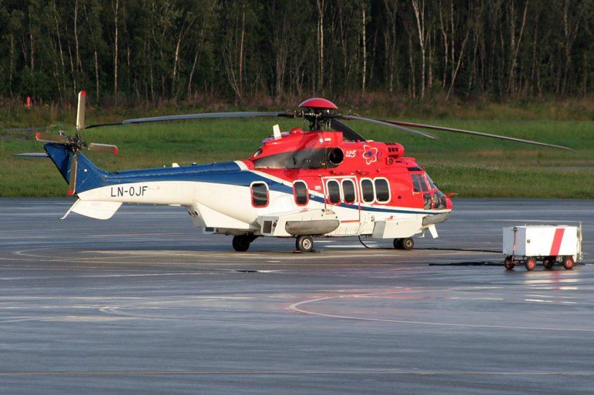 A CHC-operated Super Puma helictoper pictured in 2016.