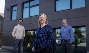 L to R Euan Bathgate (Chief Product Officer), Alison Taylor (Emissions Reduction Lead) and Colin Deddis (Process Engineering Lead).