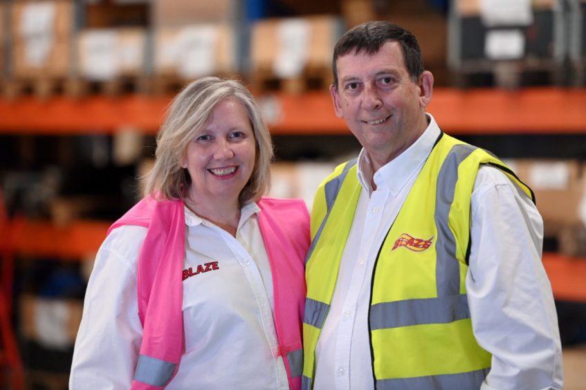 Ann and Howard Johnson of Blaze Manufacturing, Laurencekirk.