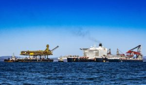 Pictures: Pioneering Spirit graces Firth of Forth for decom job