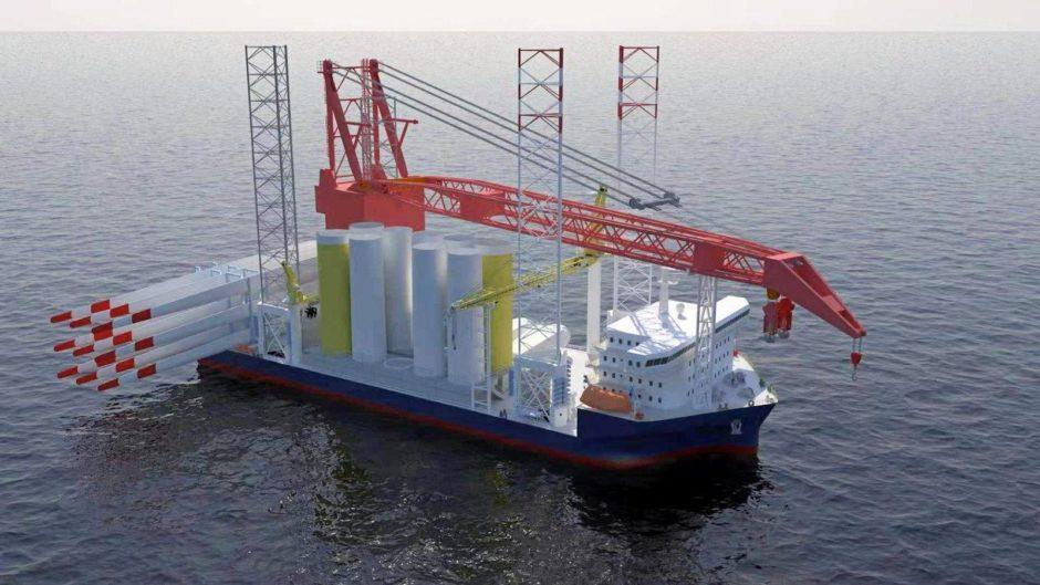 CGI of a 3060 WTIV-series vessel