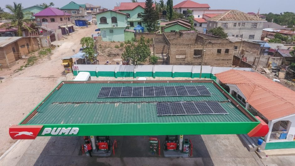 Puma Energy has completed solar installations at 14 of its sites in Ghana, part of its Future Energies business shift.