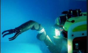 To go with story by Mark Lammey. A Scottish university will help create robotic technologies for bomb disposal and nuclear decommissioning jobs, taking humans out of harm?s way. Picture shows; A subsea robot. DK. Supplied by Heriot Watt University Date; Unknown
