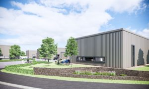 CGI of business units at new Altens Gate business park.
