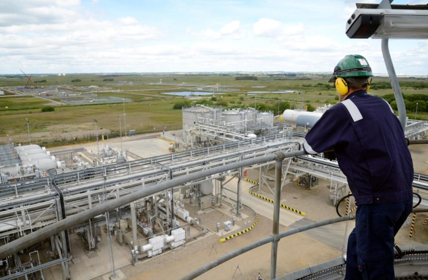 An employee at Teesside Gas Processing Plant, which is operated by px Group.