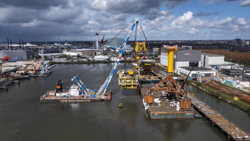 Both platforms were constructed at the HSM Offshore yard in Schiedam.