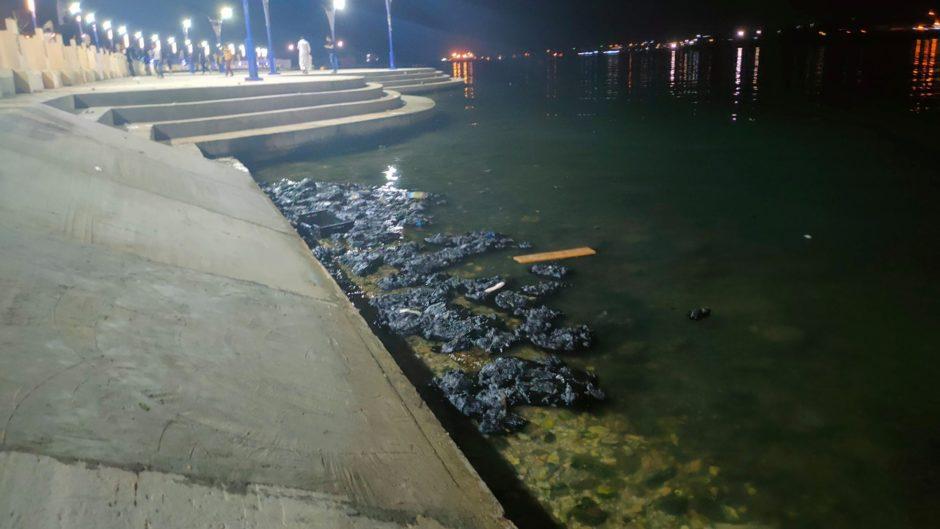 Diesel spill at night