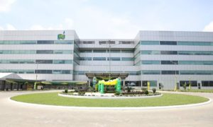 Office building with NLNG logo