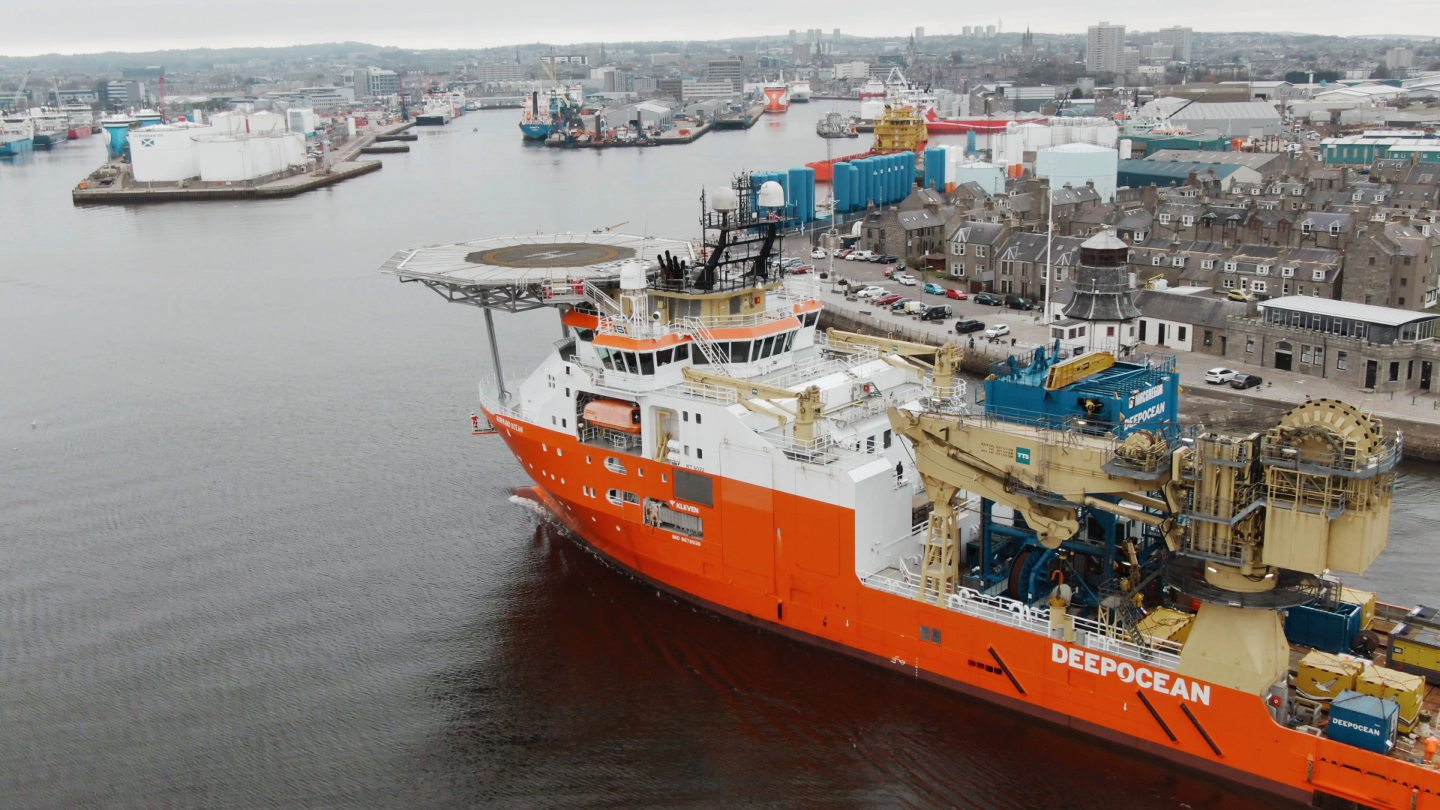 SINKING NUMBERS: The number of vessels coming into Aberdeen Harbour declined 35% to 6,100 in the period up until December.