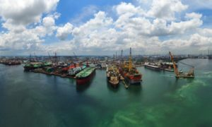 Keppel Offshore & Marine shipyard in Singapore