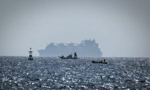 An LNG tanker on the move in Southeast Asia