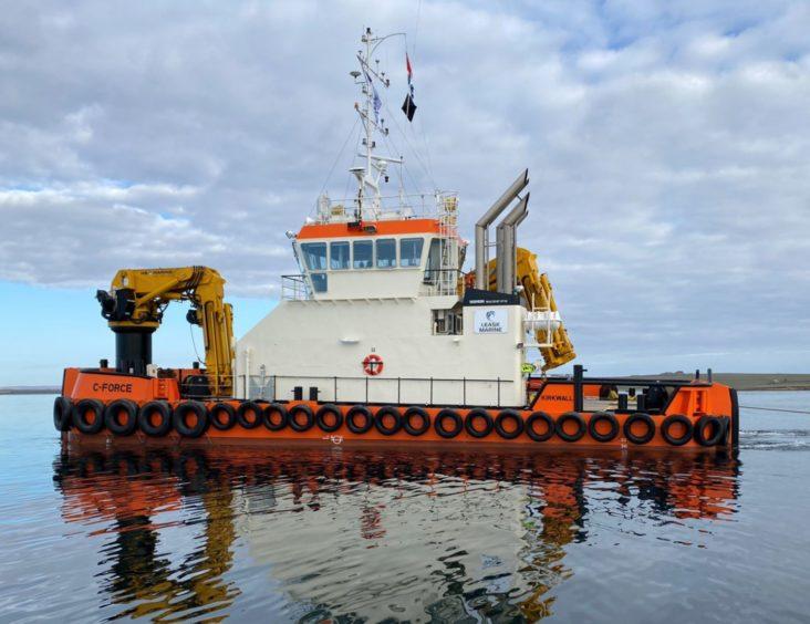 Leask Marine's Damen Multicat workboat C-FORCE.