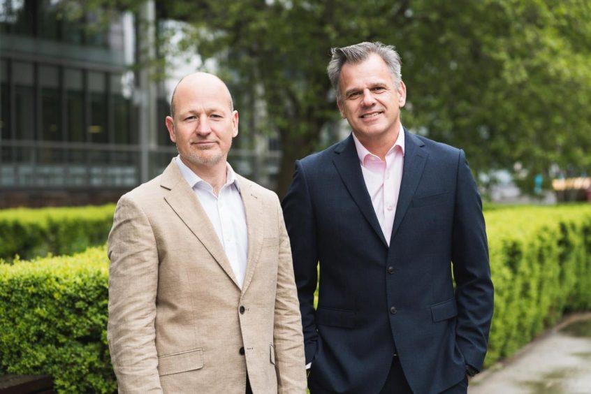 Mark Dixon, left, and Dan Jackson, founding directors of Cerulean Winds.