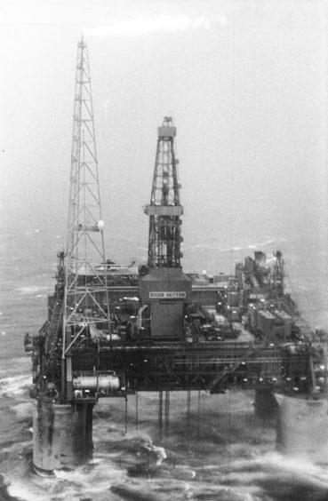 The Hutton oilfield pictured in 1984