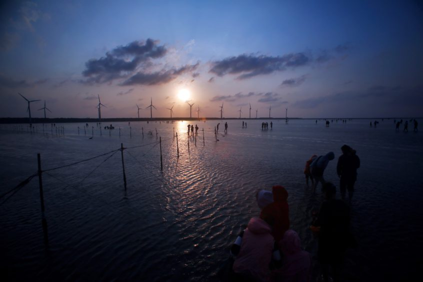 An offshore wind farm in Asia