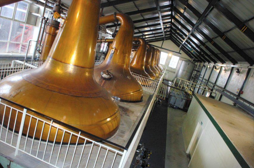 Stills at Ardmore Distillery in Kennethmont.