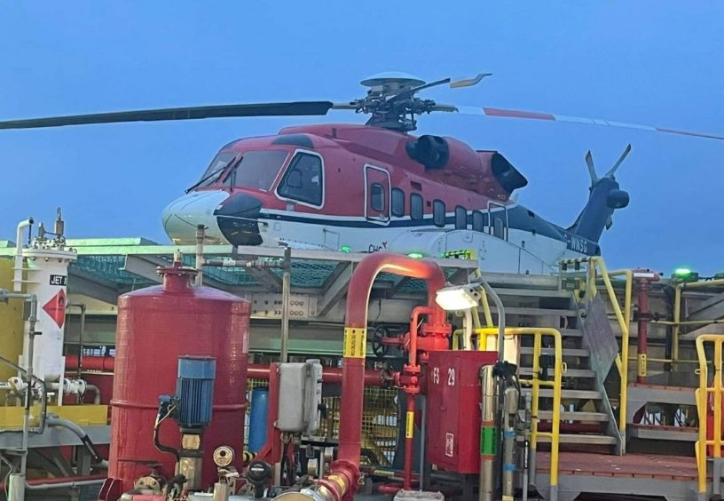 North Sea helicopter