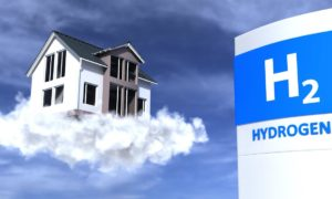 Eco house with hydrogen heating technology.
