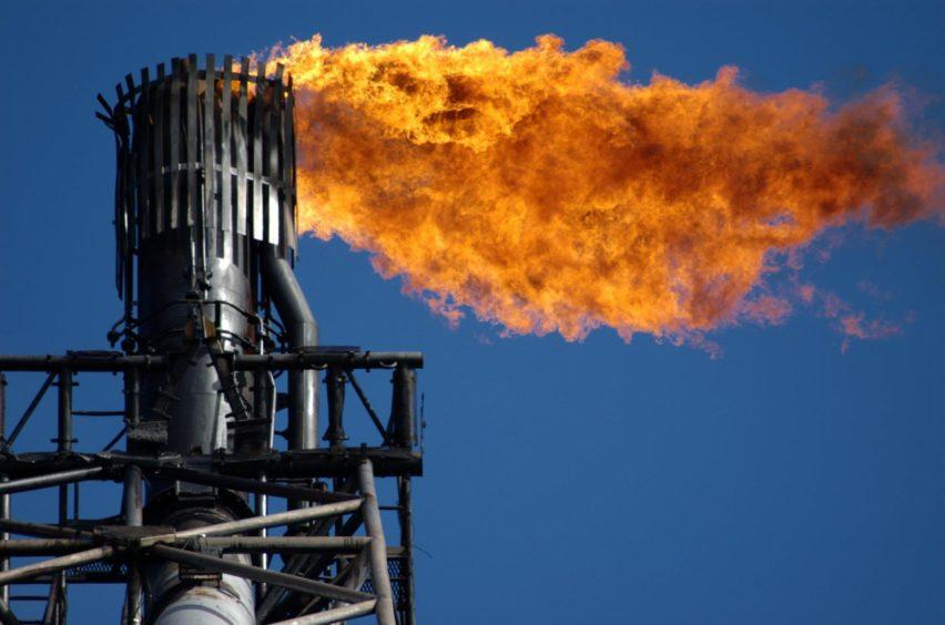 Gas flare offshore