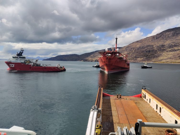 Towed out of Kishorn