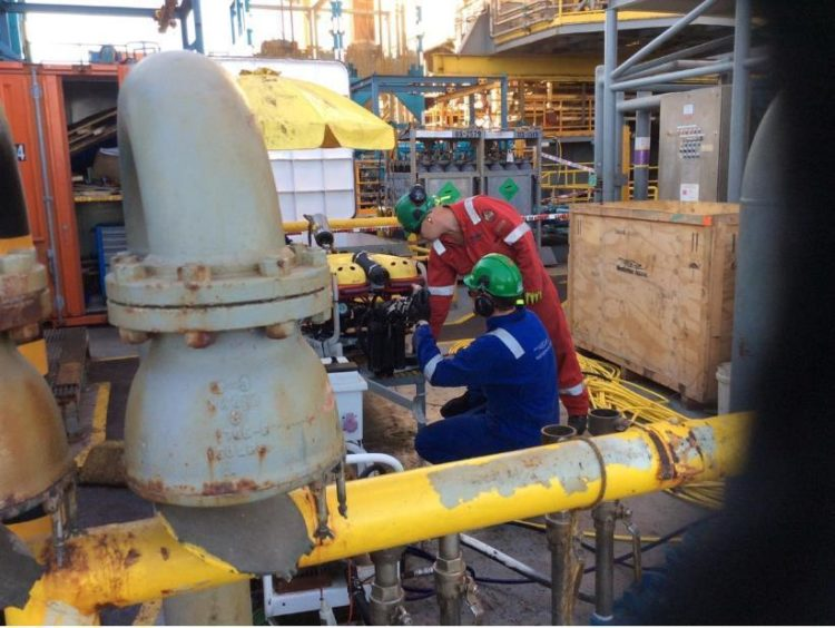 Westerton completed a full UWILD on a jack-up rig offshore, during operation, using a small ROV.