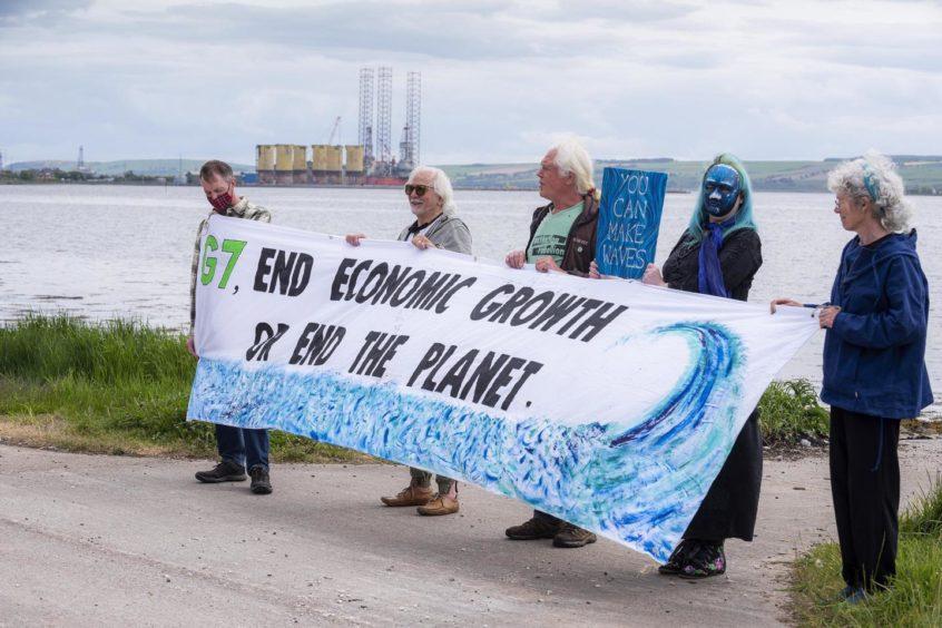 Extinction Rebellion held several demonstrations across Scotland yesterday
