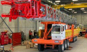 A rig in a garage