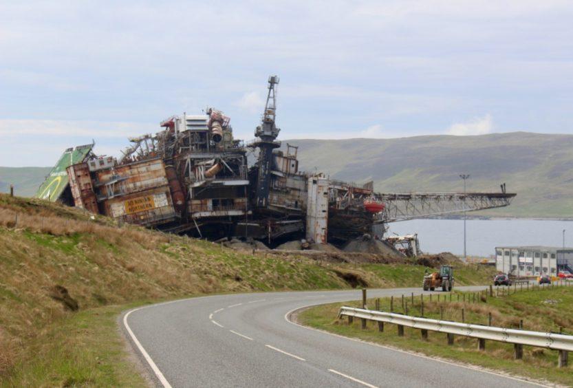 The Ninian Northern platform at Dales Voe in Shetland. 06/06/21. 06/06/21.