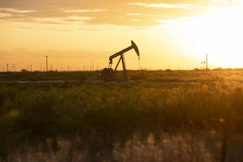 A pump jack operates just outside of Midland, Texas, U.S, on Friday, April 24, 2020. Photographer: Matthew Busch/Bloomberg