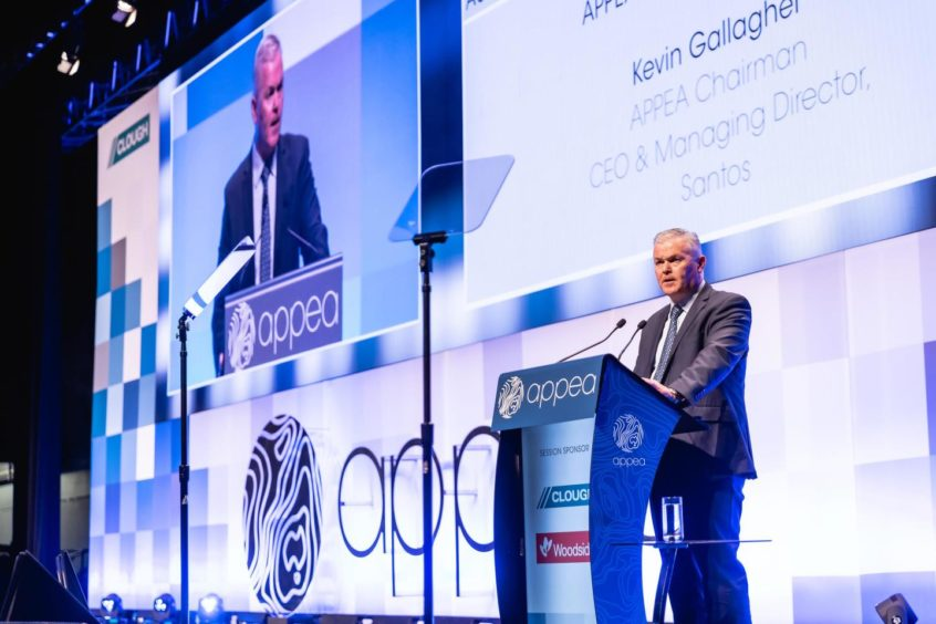 Kevin Gallagher - Santos CEO at the APPEA conference in Perth, Australia.
