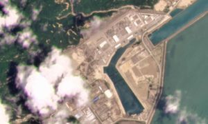 This satellite photo provided by Planet Labs Inc. shows the Taishan Nuclear Power Plant in Guangdong province, China on May 8, 2021. (Planet Labs Inc. via AP)