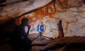 Cosquer Cave's horse panel, threatened by rising sea levels, has been digitally 'saved' by Fugro at a resolution of 0.1 mm.