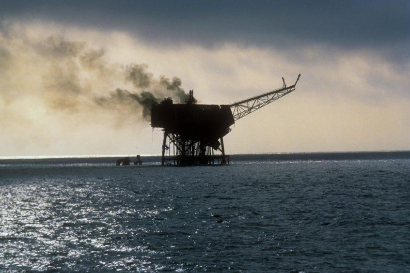 Piper Alpha oil releases
