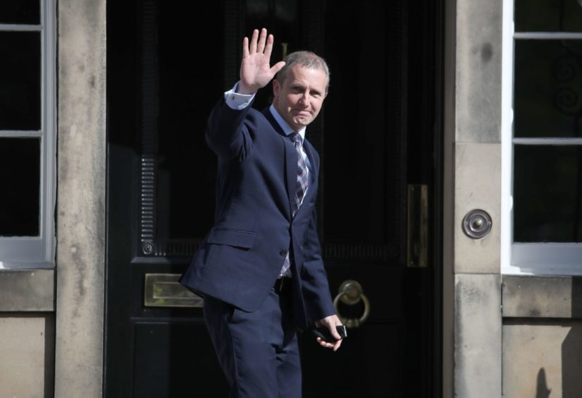Michael Matheson, Cabinet Secretary for Net Zero, Energy and Transport arrives for the announcement of the new Cabinet by the First Minister Nicola Sturgeon at Bute House in Edinburgh. Picture date: Wednesday May 19, 2021. PA Photo. Photo credit should read: Andrew Milligan/PA Wire
