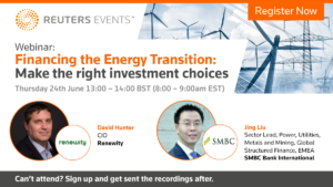 Reuters Events free webinar: Financing the energy transition