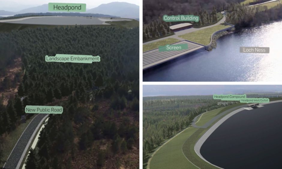 LONG-TERM BENEFITS: Impressions of the Red John hydro scheme at Dores, Loch Ness, which has been approved by the Scottish Government.