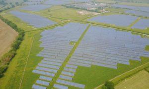 A solar farm developed by Anesco.