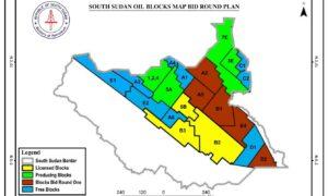 Map showing blocks in South Sudan