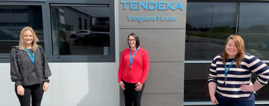 From left to right: Amy Barclay, Nicola Wigg and Eilidh McKay have forged award winning engineering careers with global production optimisation specialist, Tendeka.