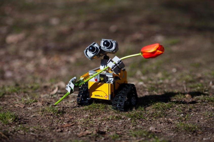A Wall-E robot.