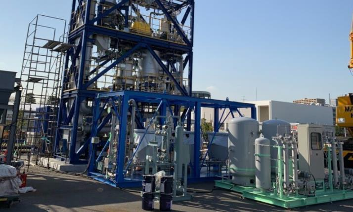 A Ways2H waste-to-hydrogen facility. Tokyo.