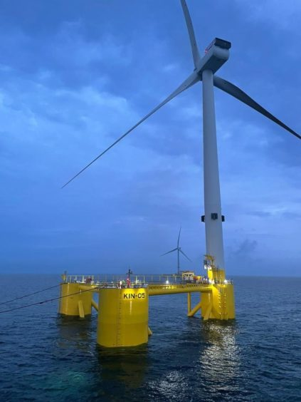 Principle Power's floating foundation is in use at the Kincardine wind farm