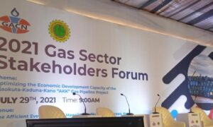 Conference backdrop of Gas Sector Stakeholders' Forum