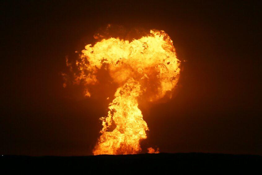 caspian explosion