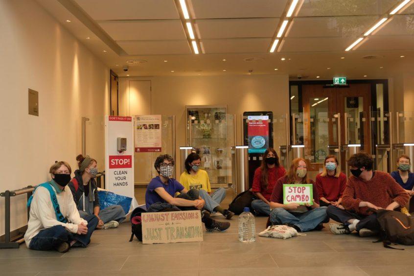 Activists at Queen Elizabeth House.